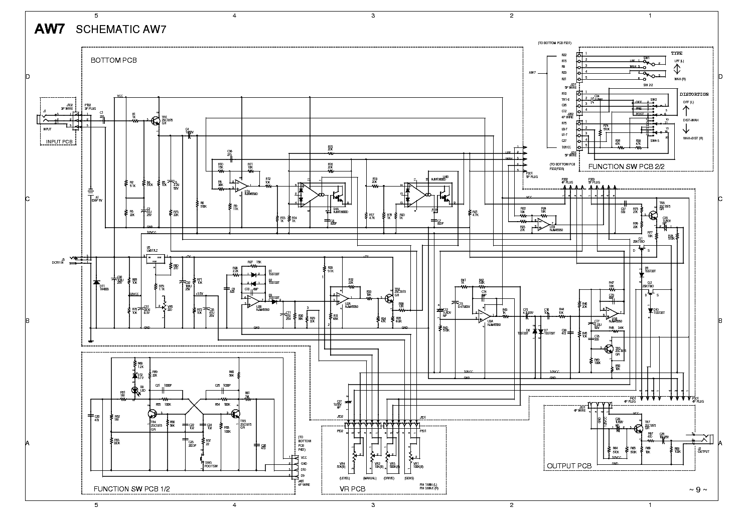 Ibanez Aw7 02 Schematic Service Manual Download