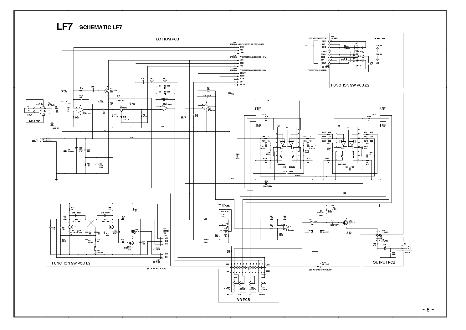 Ibanez Lf7 01 Schematic Service Manual Download