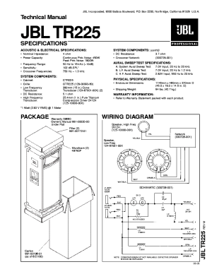 JBL TR225 SM Service Manual download, schematics, eeprom
