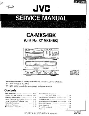 JVC CAMXS4BK XTMXS4BK Service Manual download