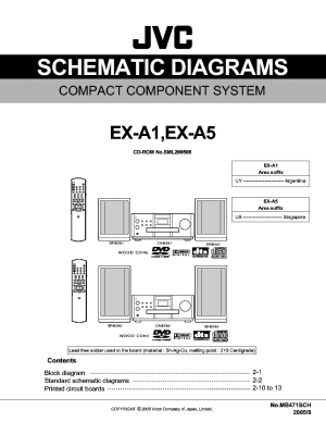 JVC EXA1 A5 SM Service Manual download, schematics