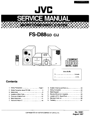 JVC FSD88 Service Manual download, schematics, eeprom