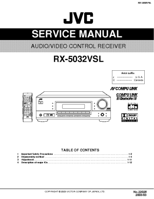 JVC RX5032VSL Service Manual download, schematics, eeprom