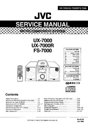 JVC UX7000 7000R FS7000 SM Service Manual download
