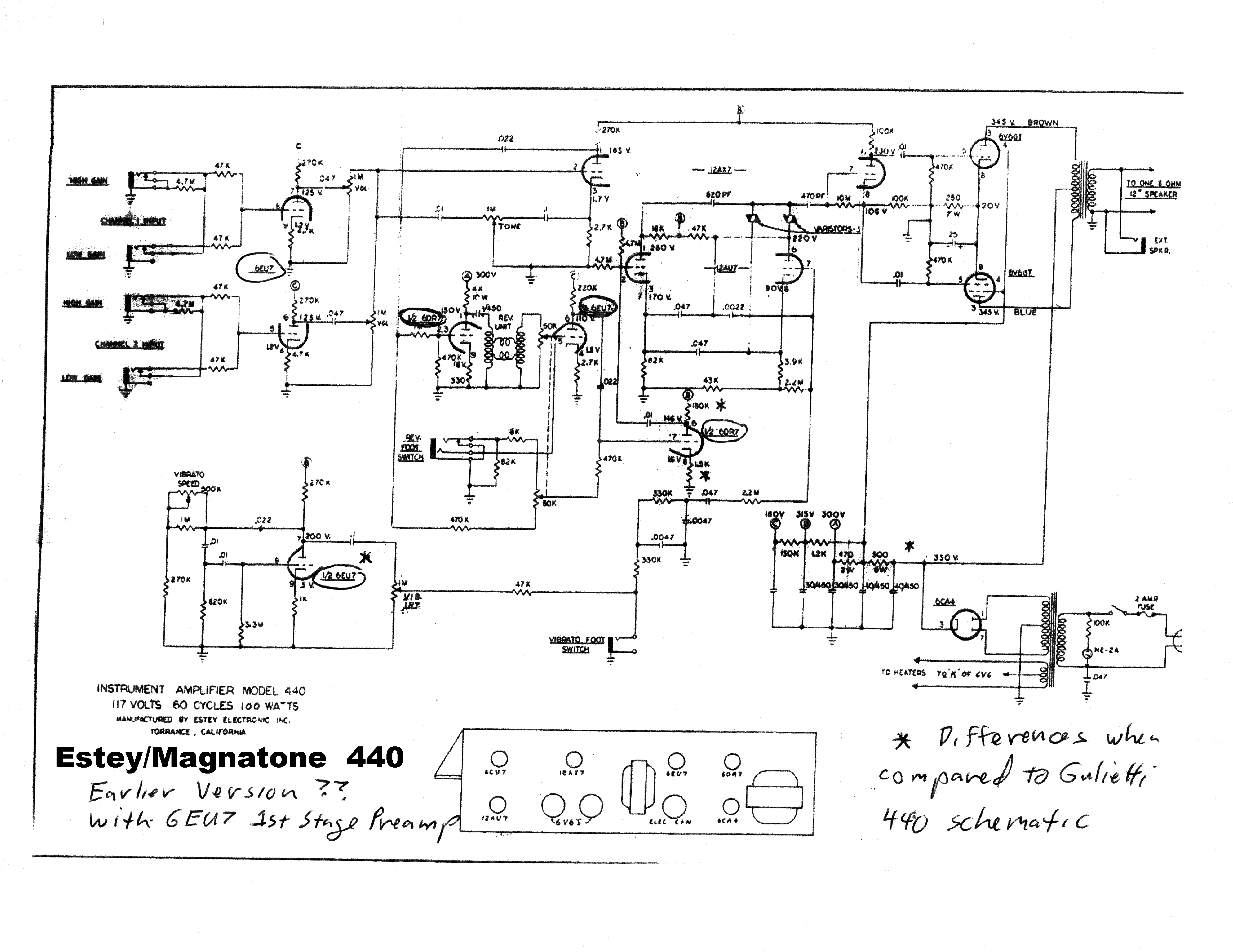 Magnatone 280a Sch Service Manual Download Schematics Eeprom Repair Info For Electronics Experts