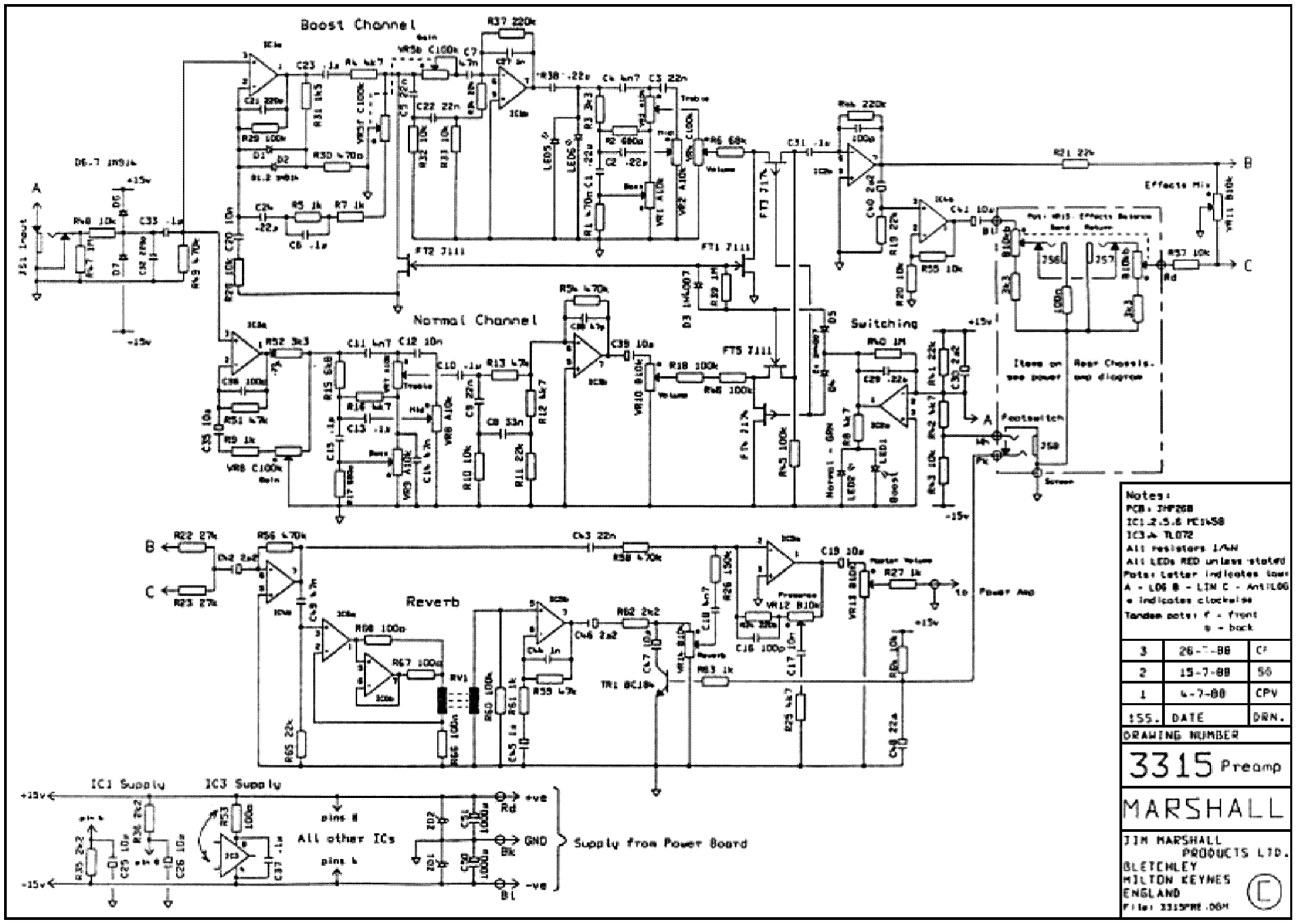 Marshall Jtm60 Sch Service Manual Download Schematics
