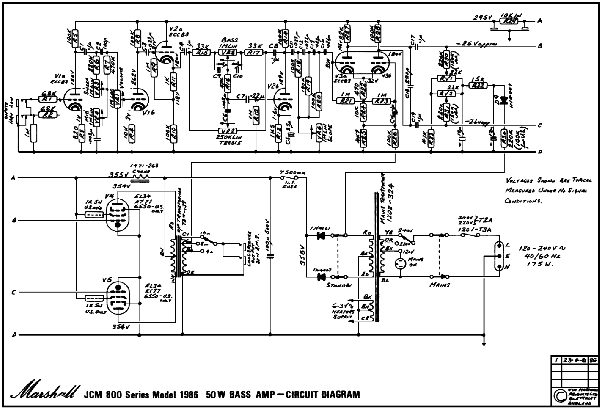 Marshall Wiring Diagram