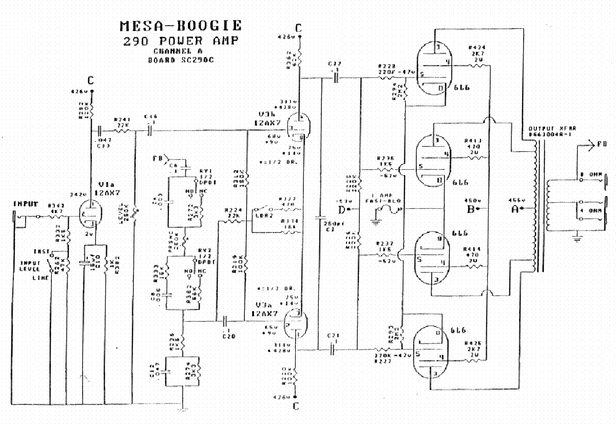 Mesa Boogie Mkiib Service Manual Free Download Schematics