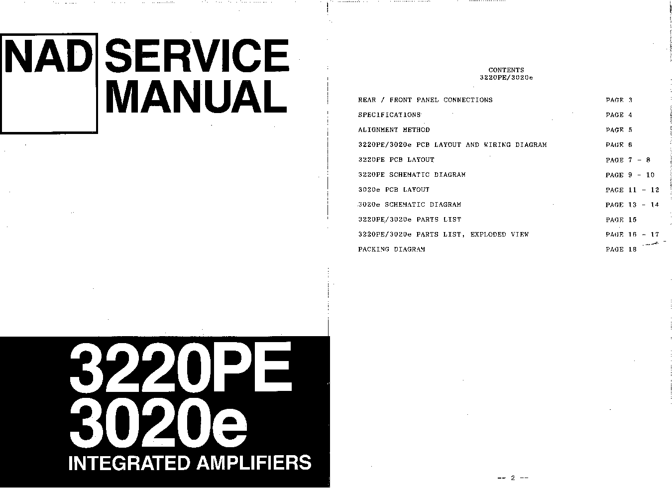 Nad E Pe Sm 2 Service Manual Download Schematics