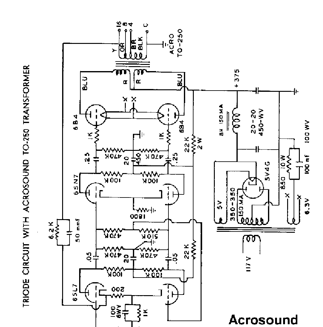 Acrosound Trioda Sch Service Manual Download Schematics