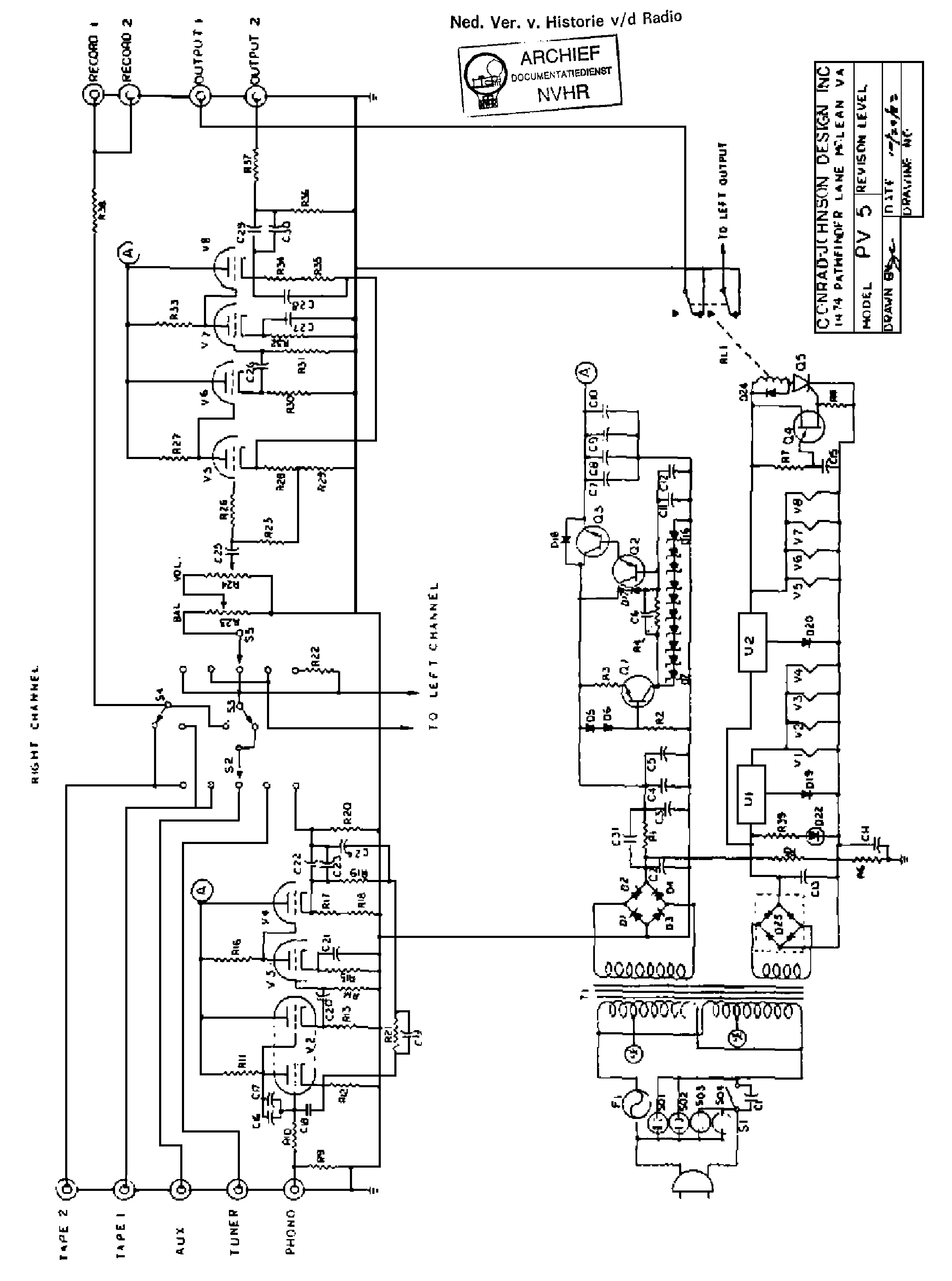 Conrad Johnson Preamp Schematic