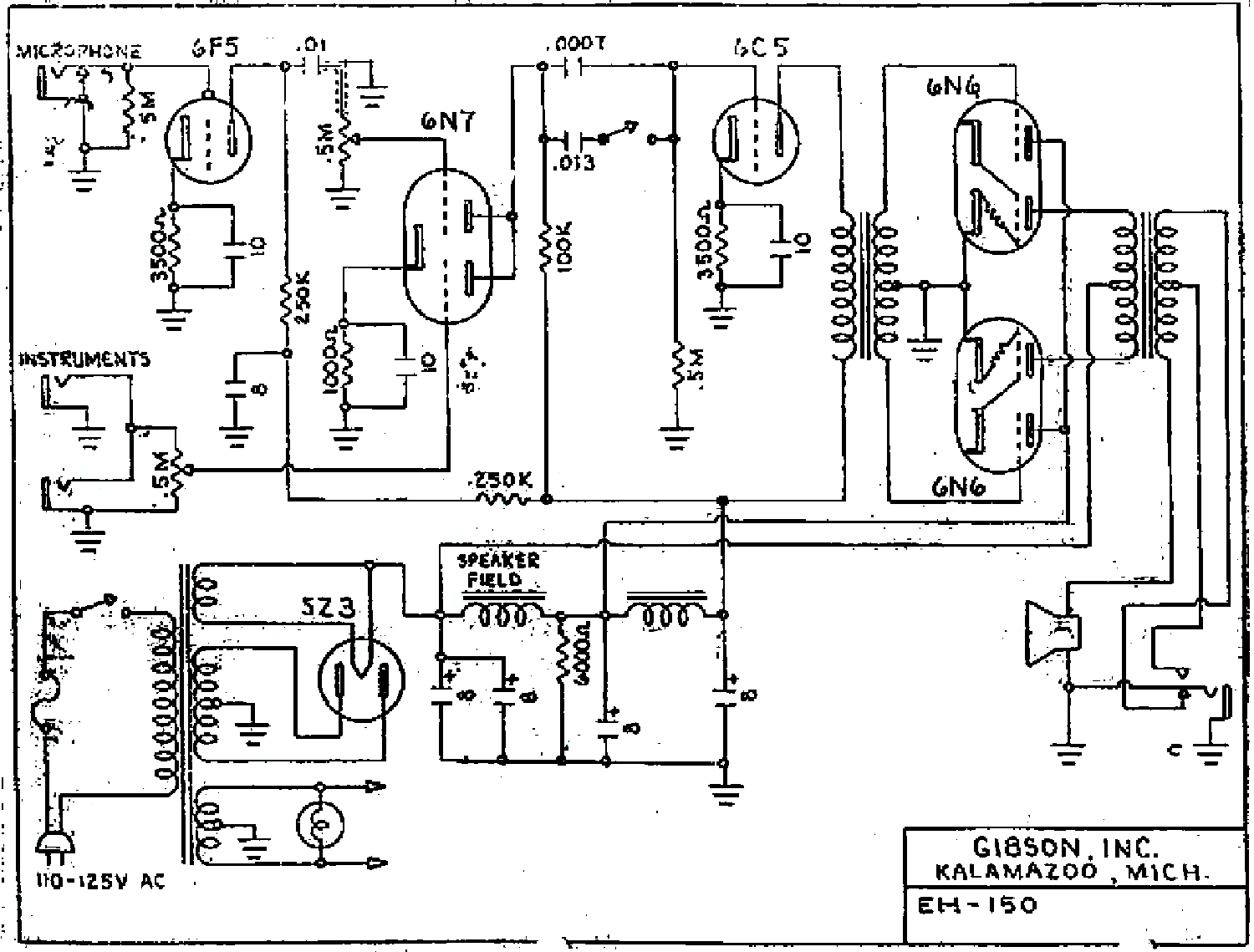 Gibson Ga 50 Schematic Service Manual Download Schematics