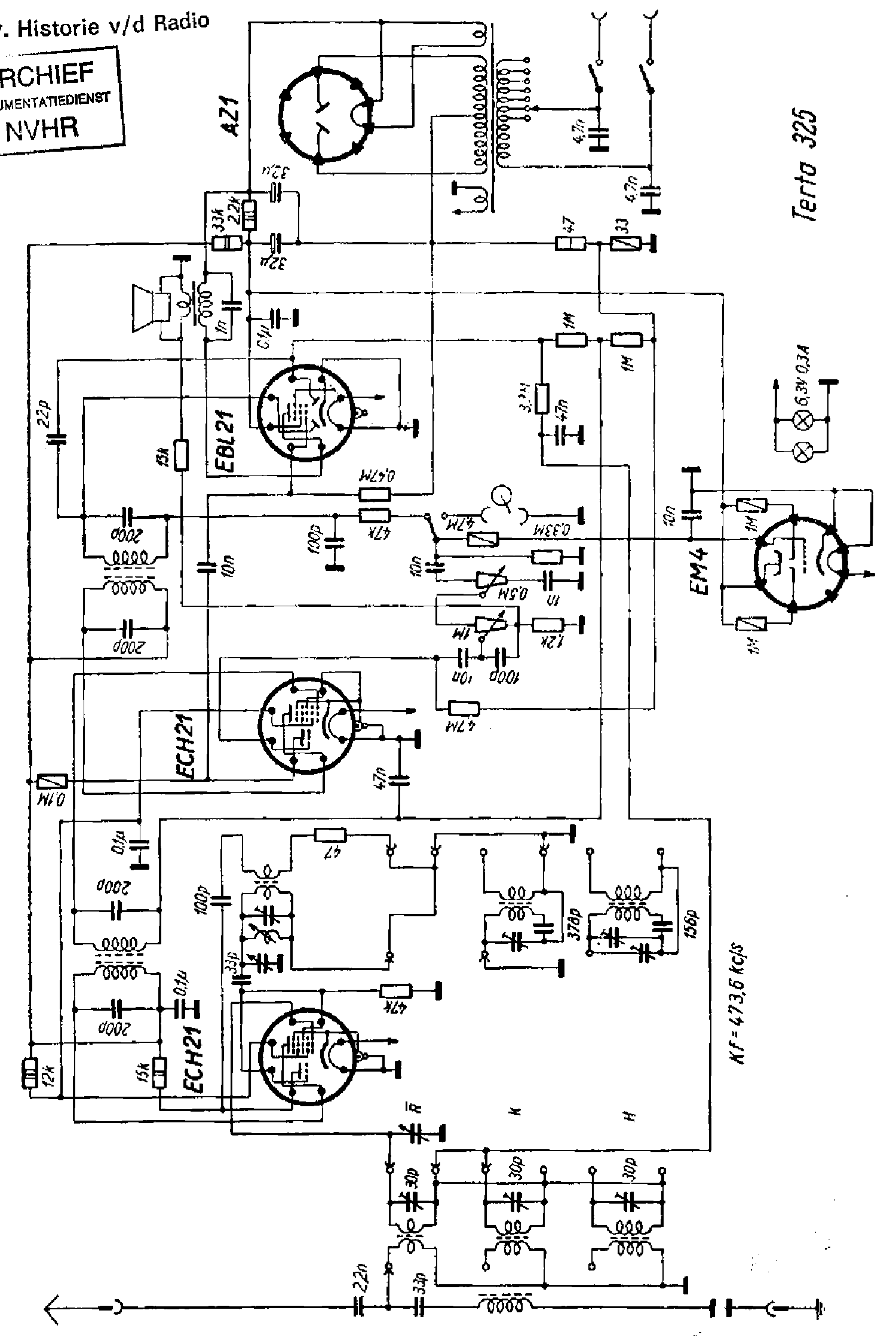 Terta T325 Radio Sch Service Manual Download Schematics