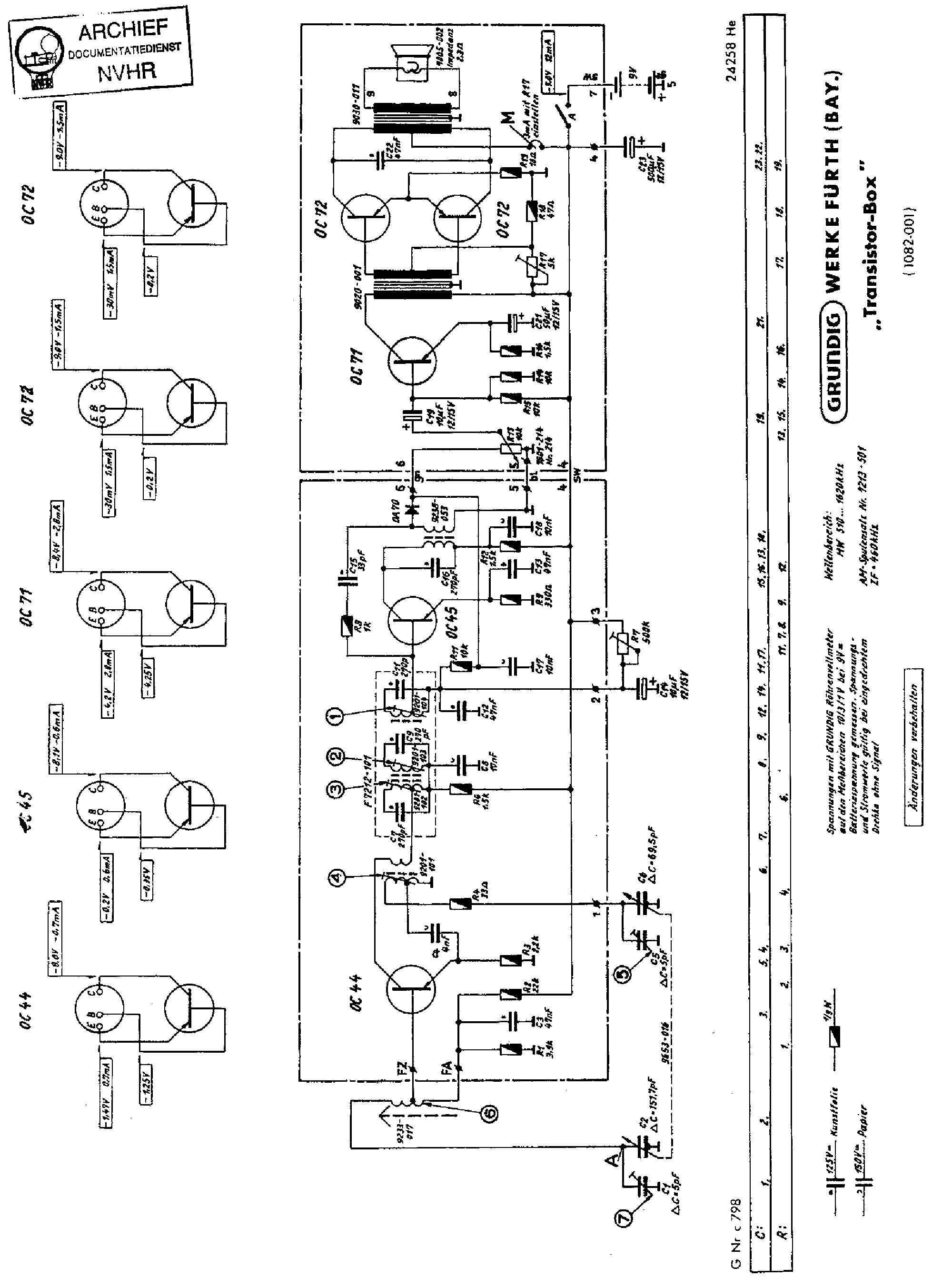 Transistor Radio Schematics