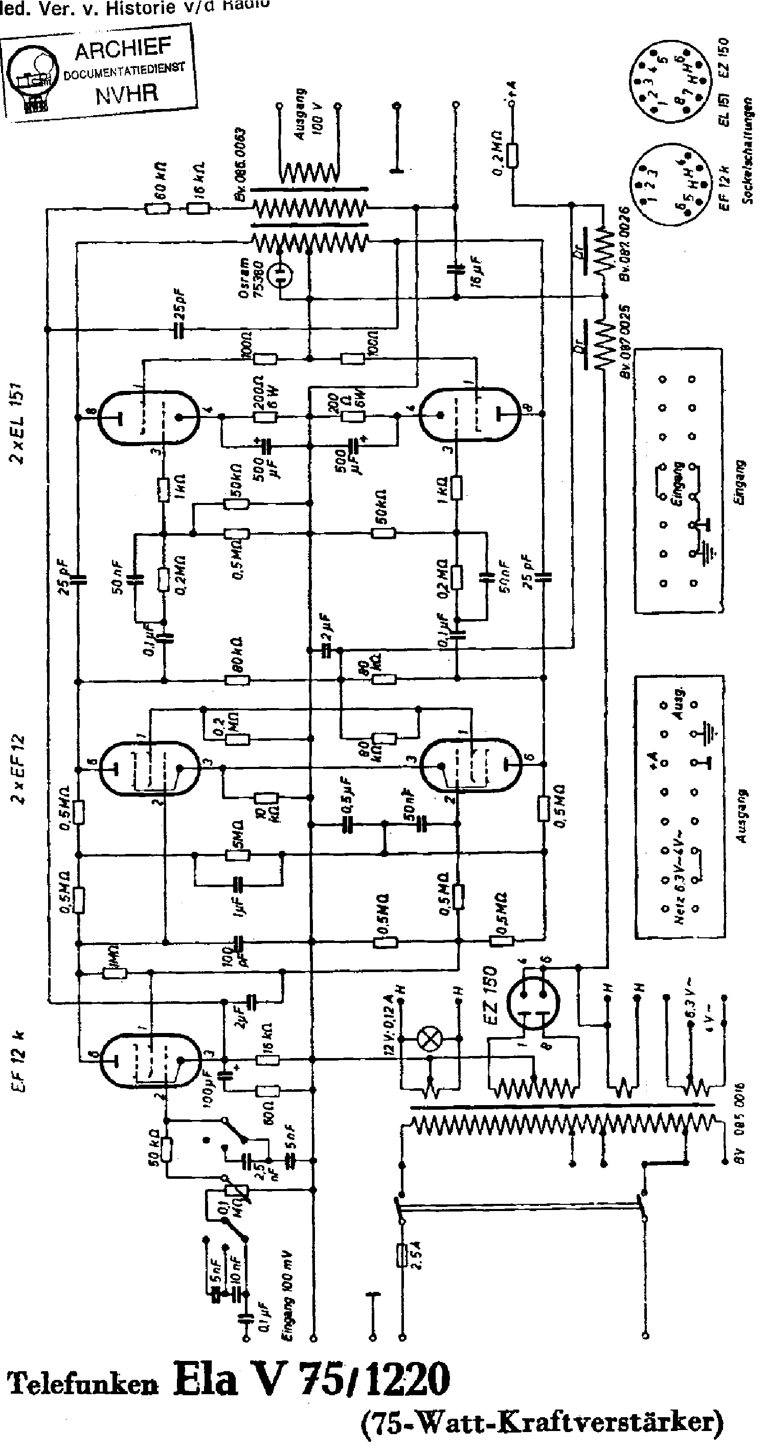 Telefunken 340 W Service Manual Free Download Schematics