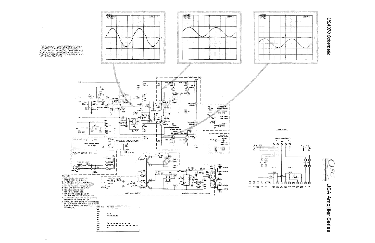 Qsc Usa370 Sch Service Manual Download Schematics Eeprom