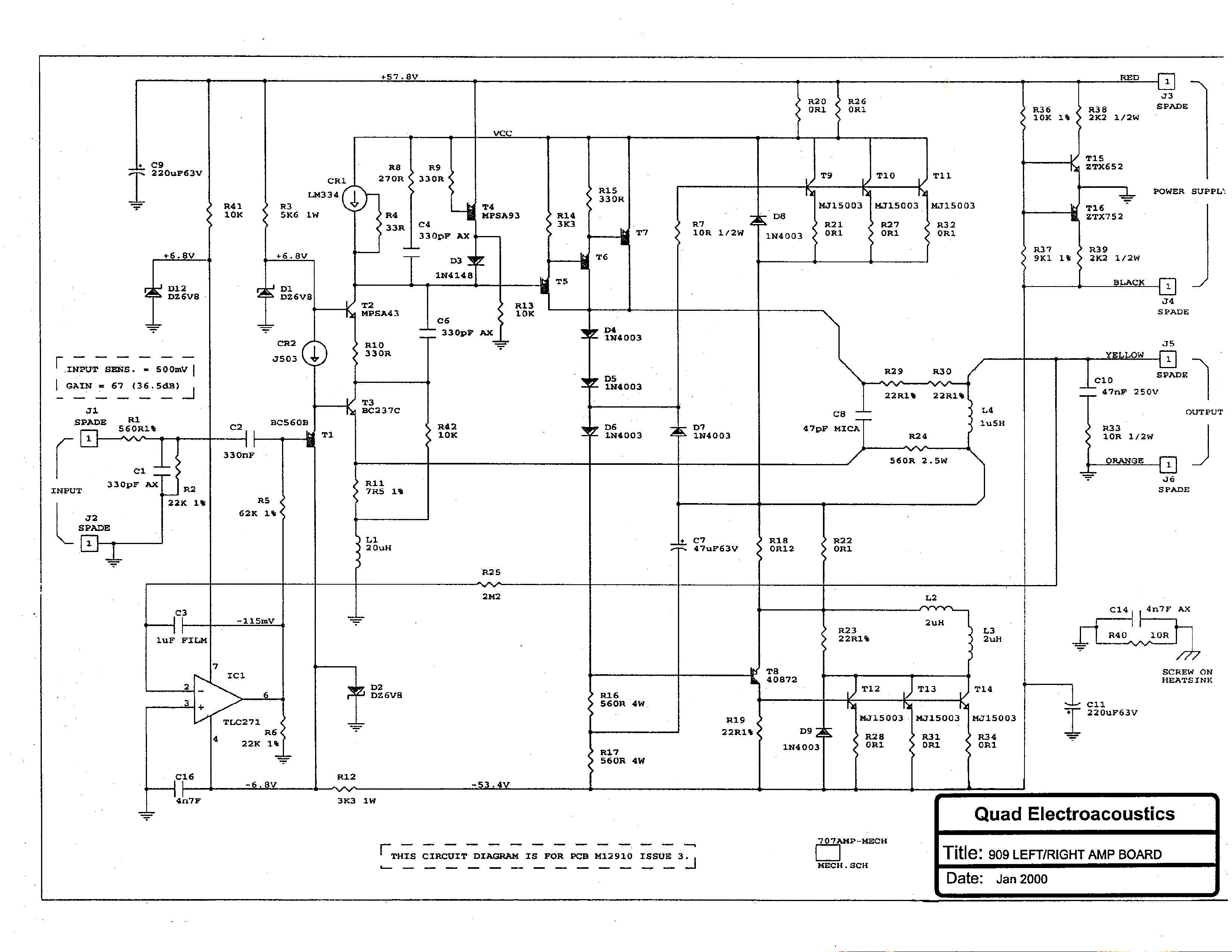 Quad 909 Sch Service Manual Download Schematics Eeprom