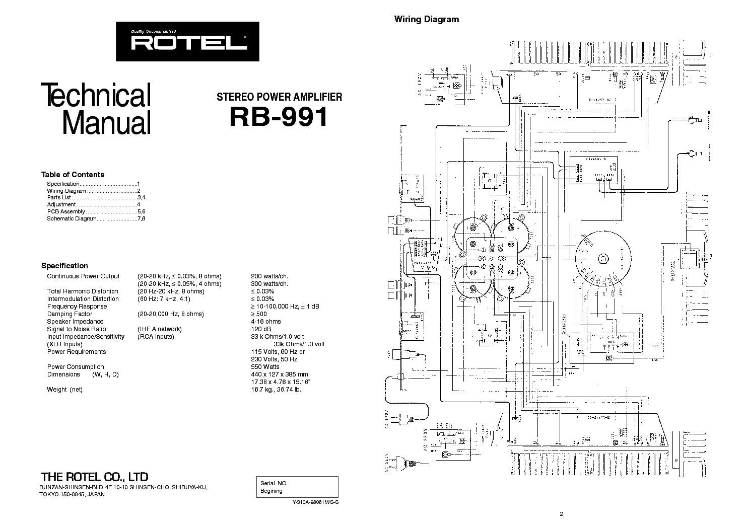 Rotel Rb 991 Stereo Power Amplifier Sm Service Manual Download Schematics Eeprom Repair Info