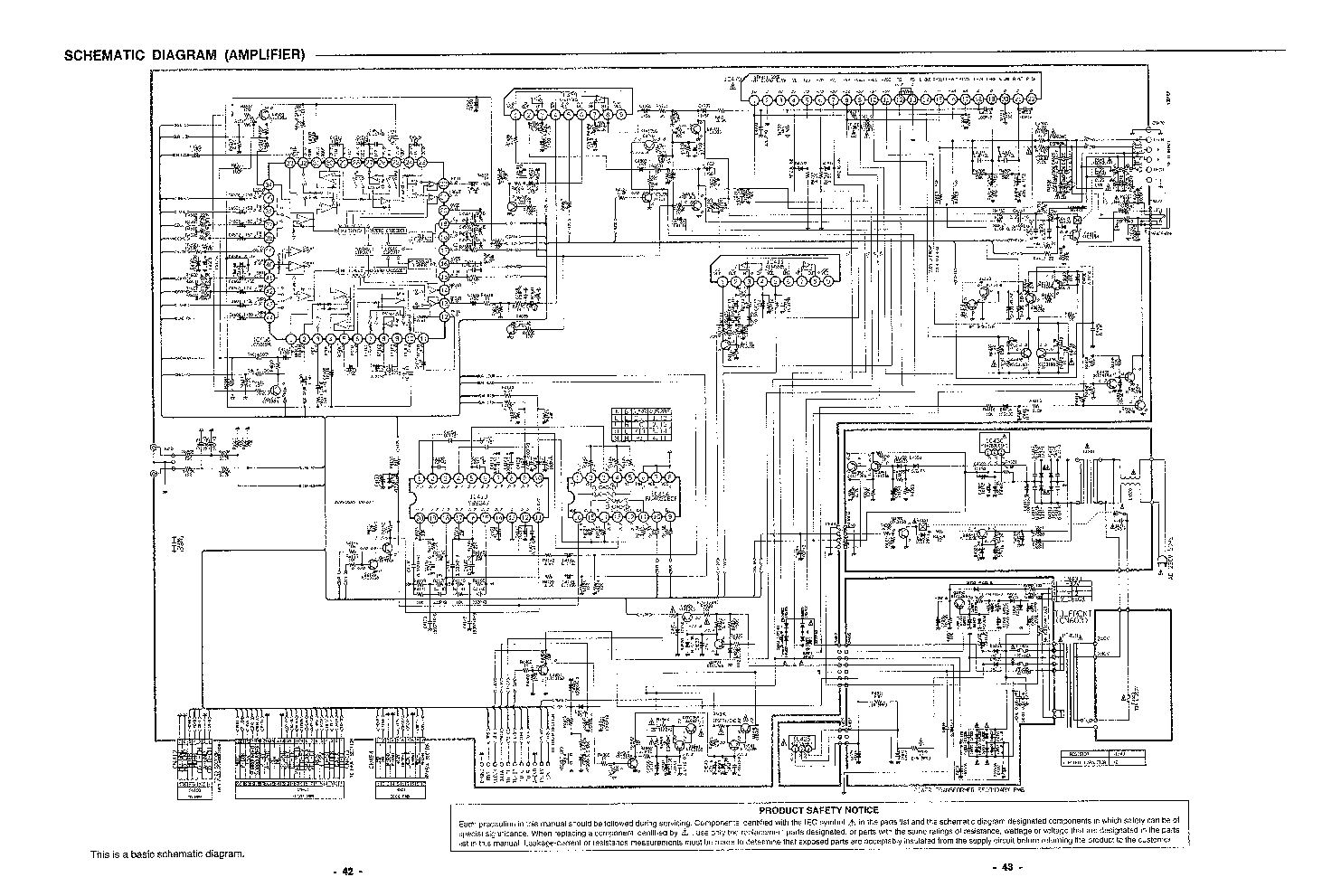 Sanyo Dc C70 Amp Sch Service Manual Download Schematics