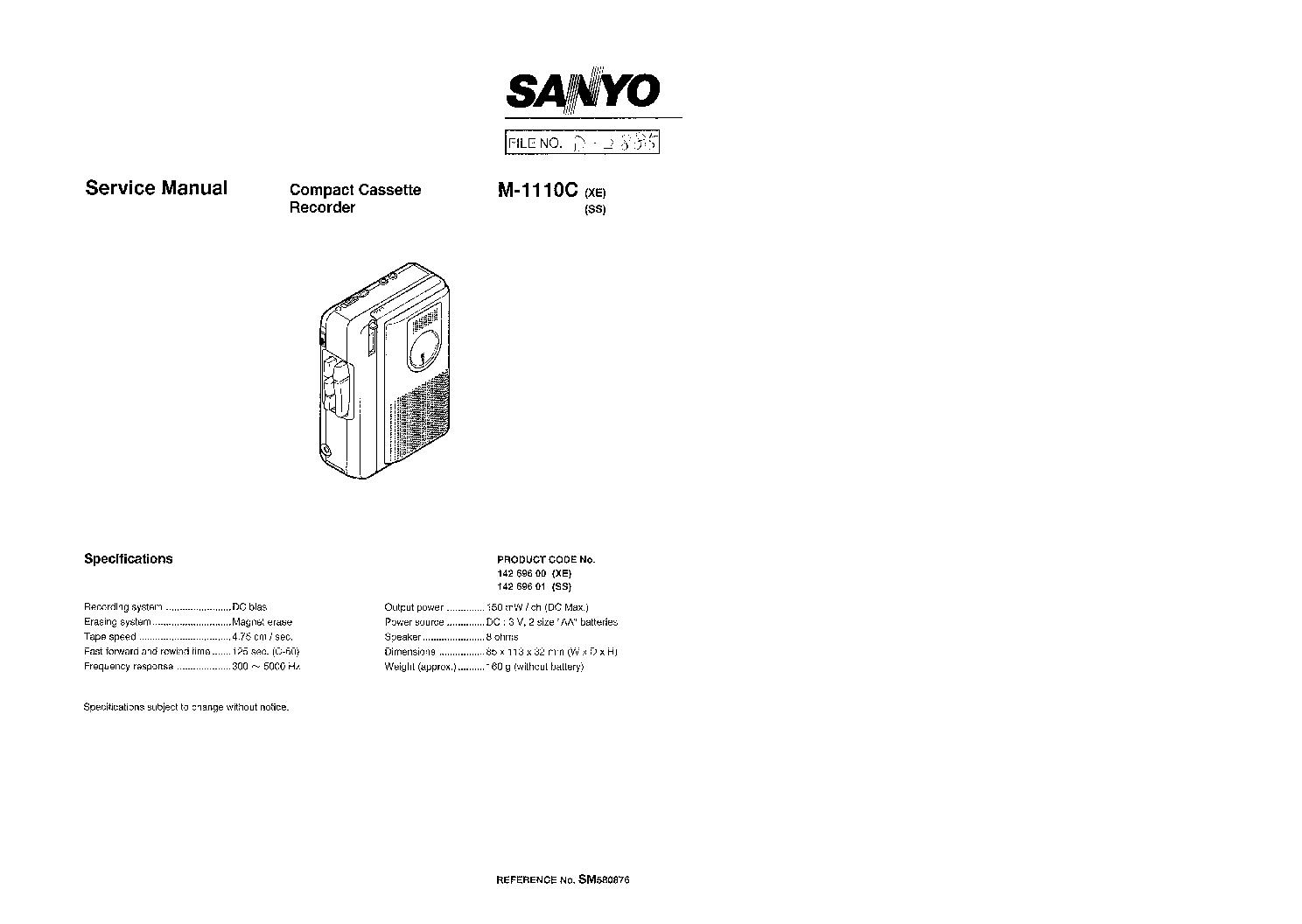 Sanyo 6sc 10 Sch Service Manual Download Schematics
