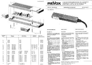 STUDER REVOX A77 REPEAT REMOTE SM Service Manual download