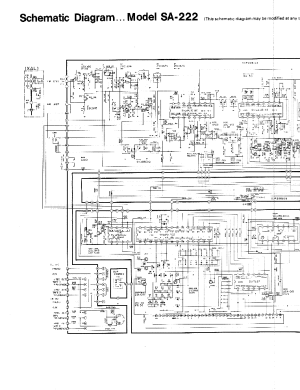 TECHNICS SA222 Service Manual download, schematics