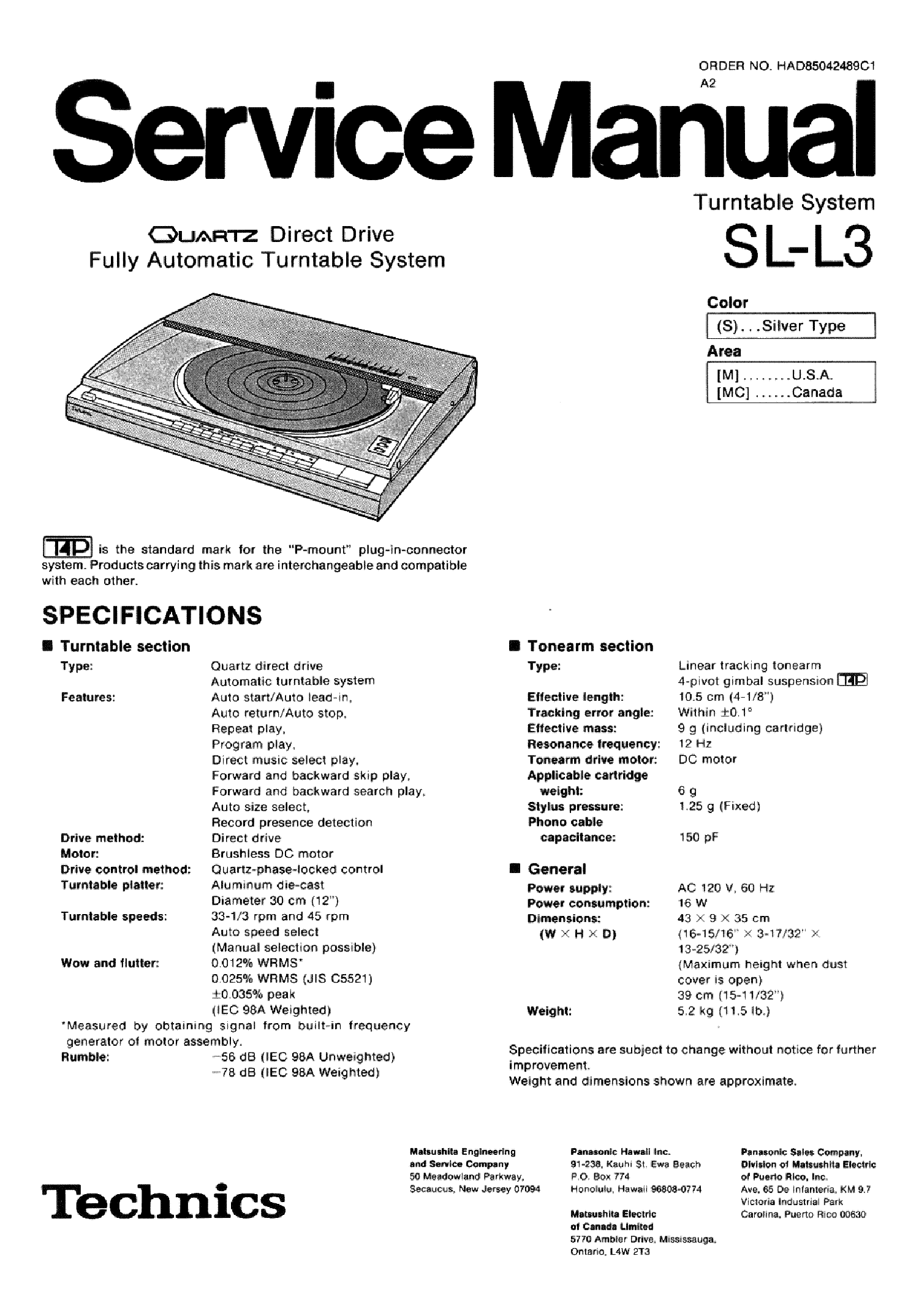 Technics Sl Mc70 Sm Service Manual Download Schematics Eeprom Repair Info For Electronics Experts