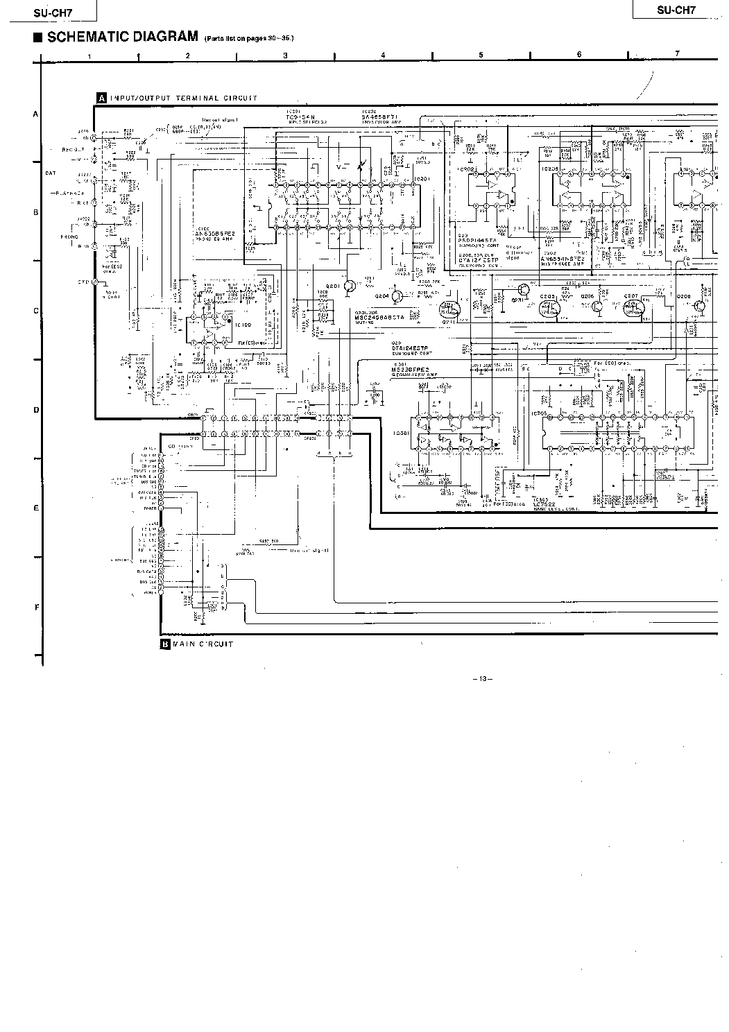 Technics Su Ch7 Service Manual Download Schematics