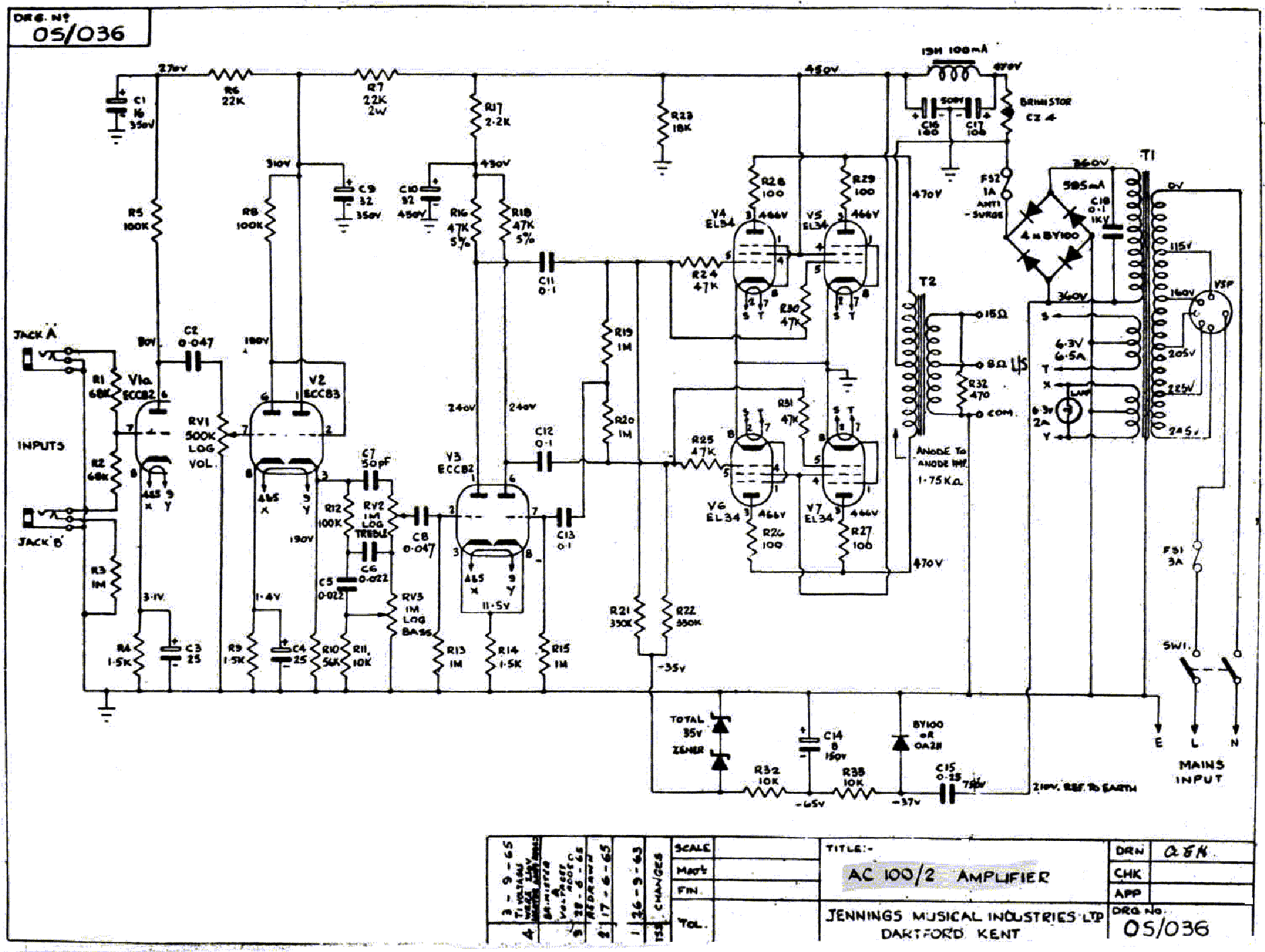 Vox Ac15 Mk Ii Sch Service Manual Download Schematics Eeprom Repair Info For Electronics Experts