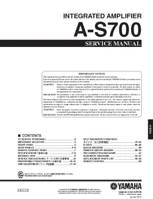 YAMAHA RXV1300 RXV2300 HTR5590 DSPAX1300 SCH Service