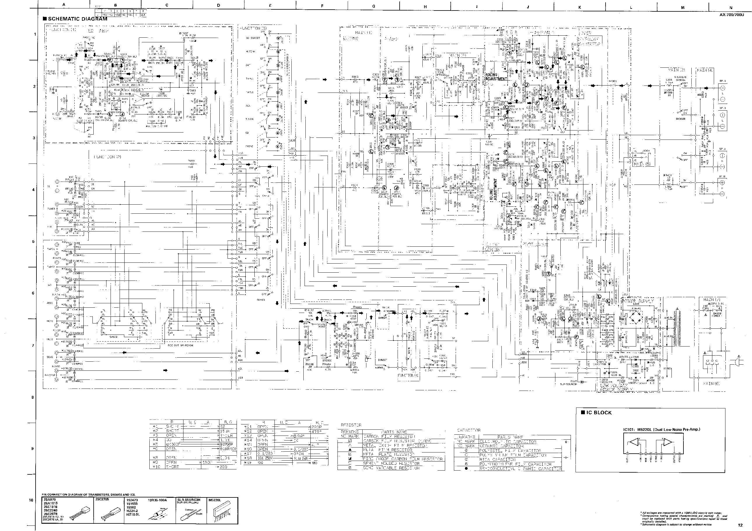 Yamaha Ax 700 U D Service Manual Download Schematics