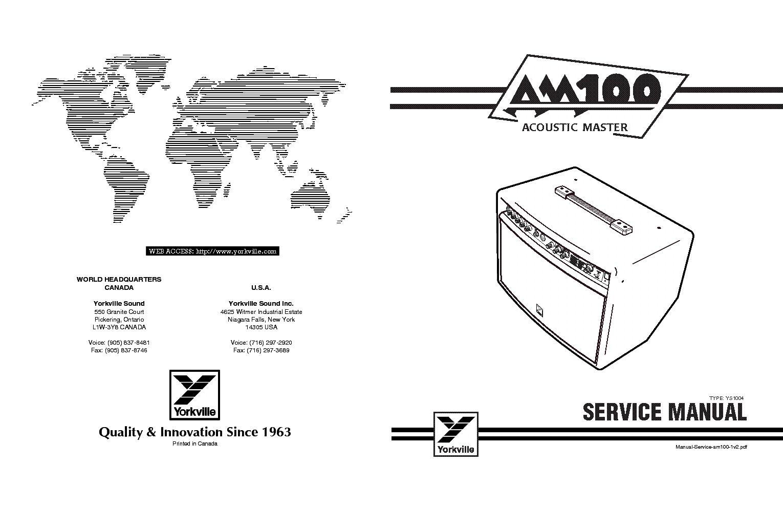 Yorkville 300k Service Manual Free Download Schematics
