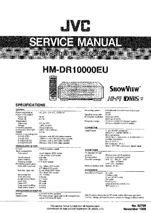 JVC HM DR10000EU Service Manual download, schematics, eeprom, repair info for electronics experts