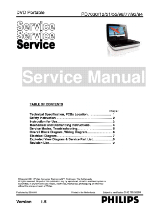 PHILIPS PD703012515577939498 Service Manual