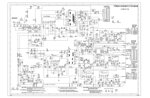 SHARP LC32SH20U POWER SCHEMATIC SCH Service Manual