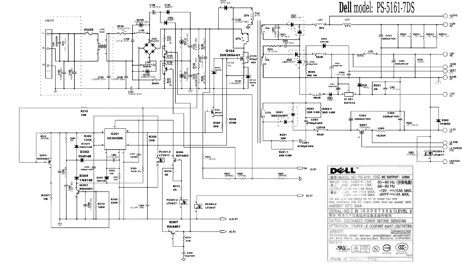 4 pin monitor power supply wiring diagram