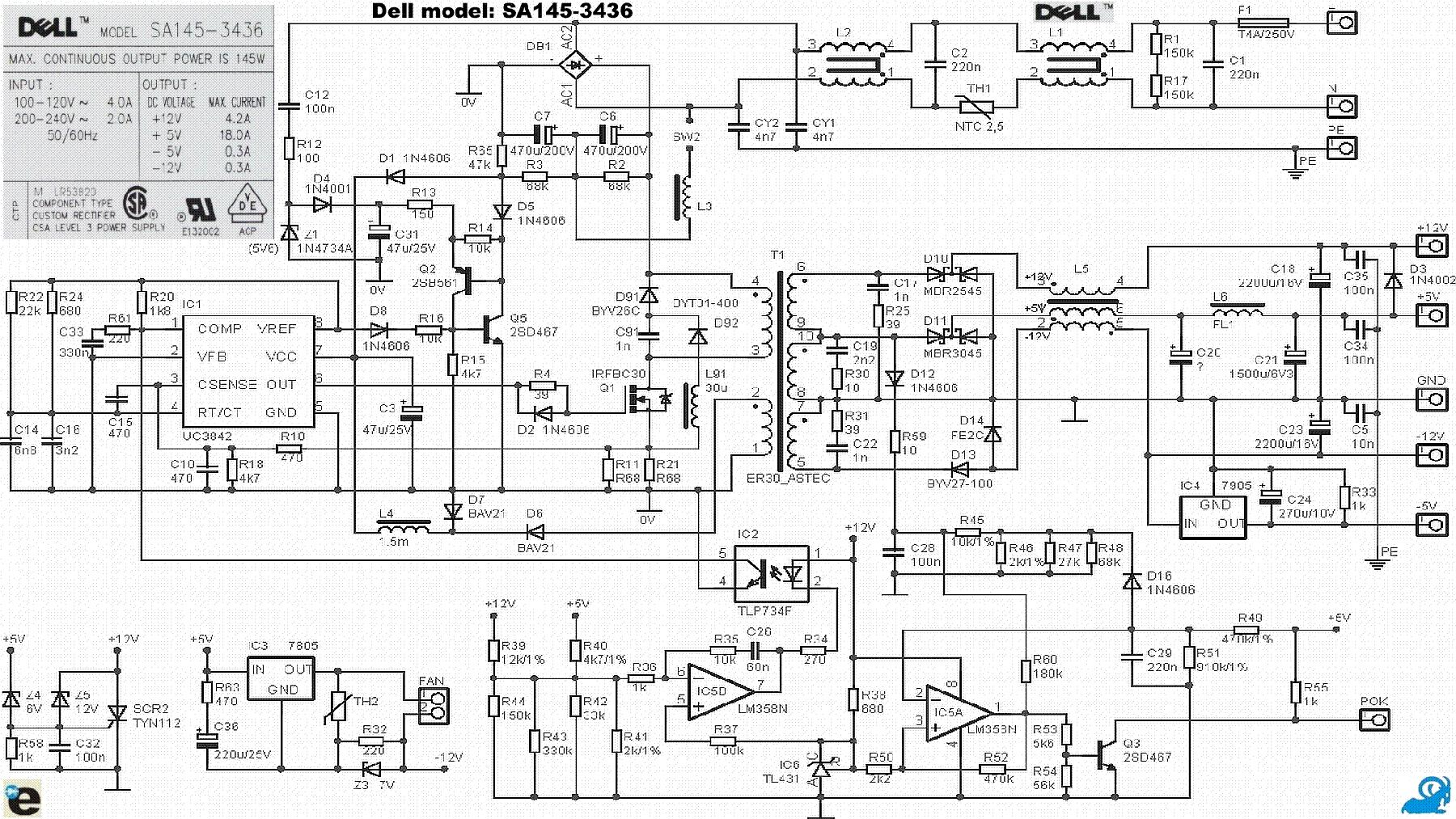 Pc Power Supply Pinout Schematic Atx