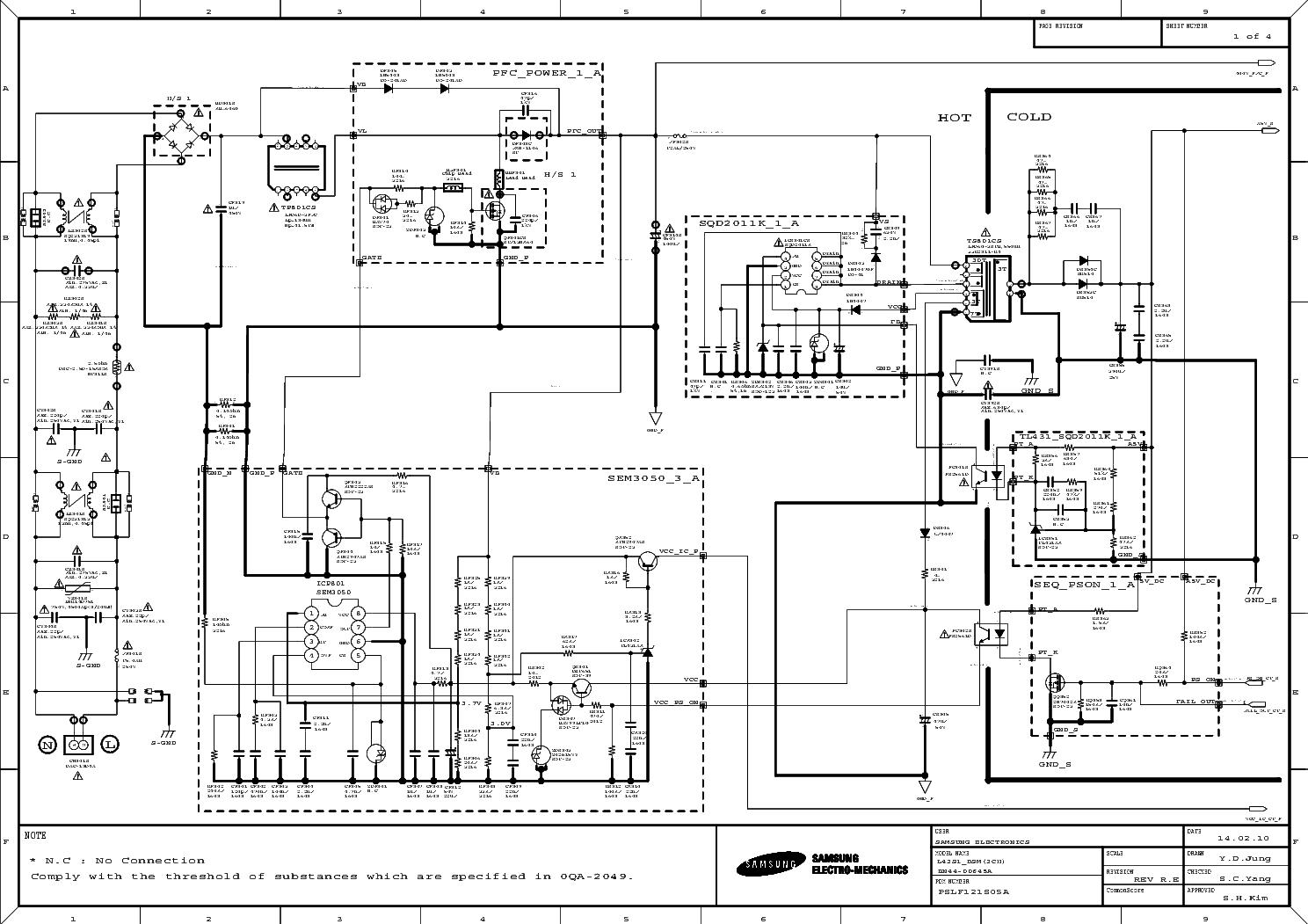 Samsung Bn44 A 40f Smps Sch Service Manual