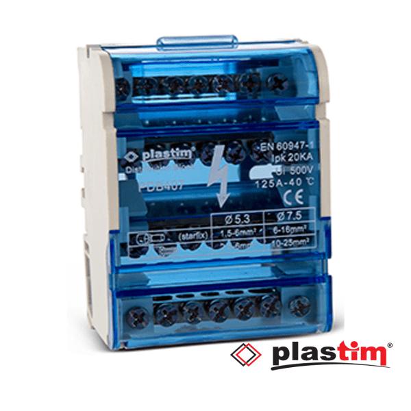 Distributivna klema 4-polna 125A,95,3+27,5+29.0mm Plastim Elektro Vukojevic