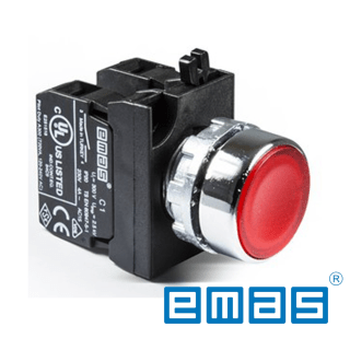 Taster crveni 1NO+1NC sa adapterom EMAS Elektro Vukojevic