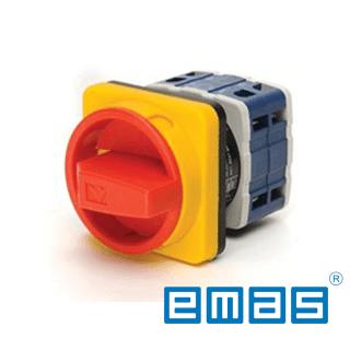 Grebenasti prekidač 0-1, 3-polni,32A IP54 EMAS Elektro Vukojevic