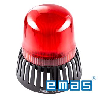 Zvučna signalna lampa crvena LED 24AC DC, fi120 EMAS Elektro Vukojevic