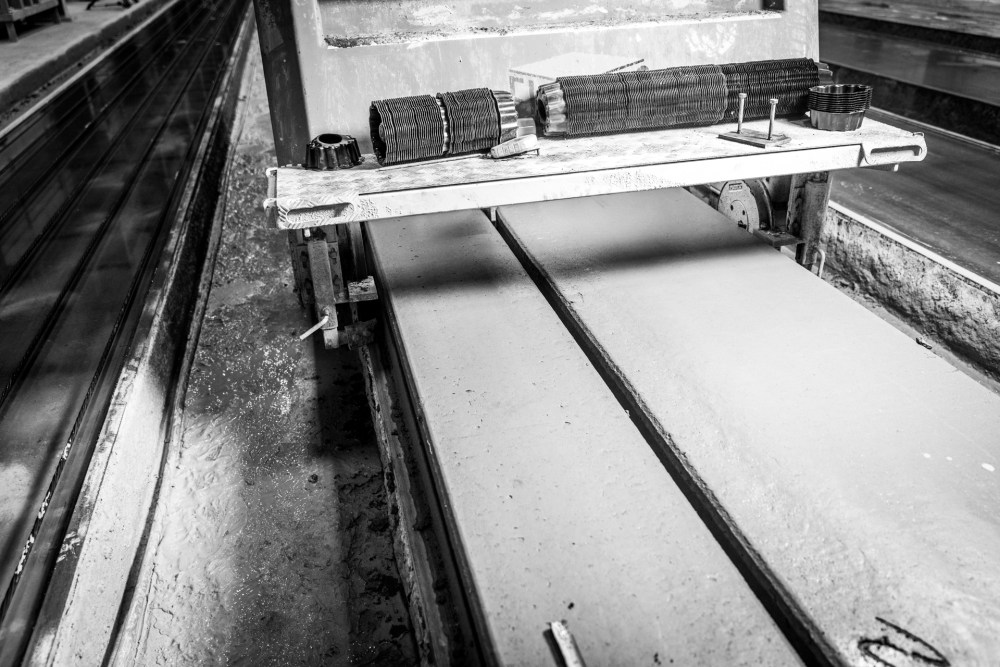 Filler slabs being produced with Elematic Extruder