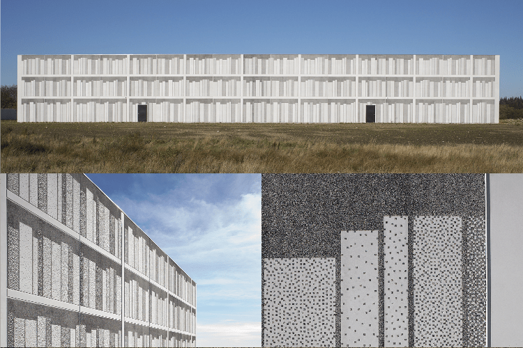 Viborg Landsarkiv in Denmark utilizes graphic concrete