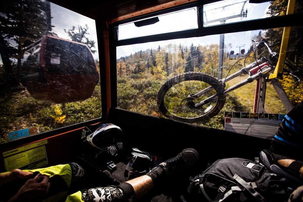 The joys of lift-served bike park action at Canyons Resort in Park City, Utah.