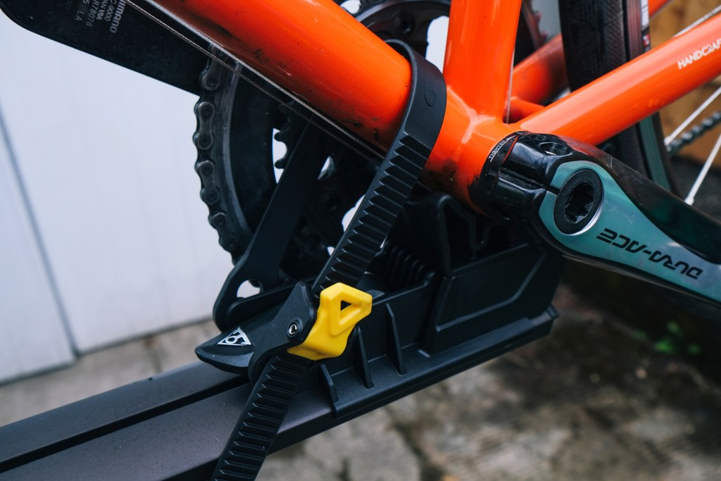 Topeak Prepstand X bicycle repair stand review cradle bottom bracket ratcheting strap