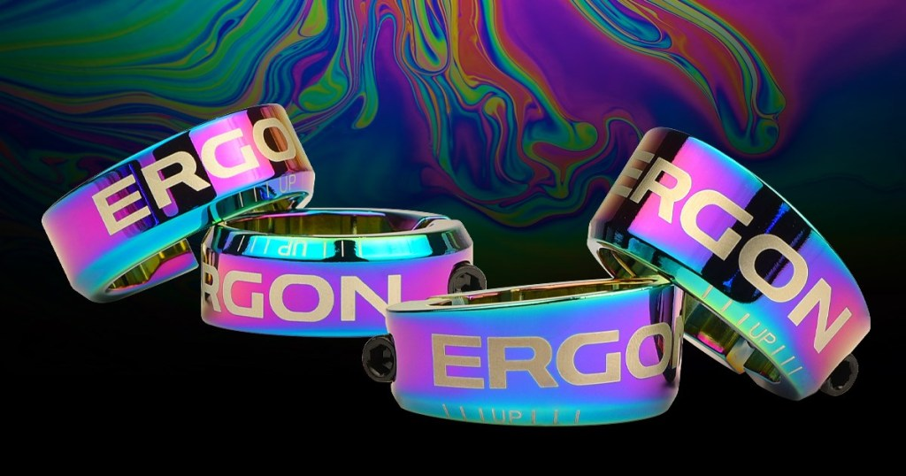 Ergon oil slick mountain bike grip clamps