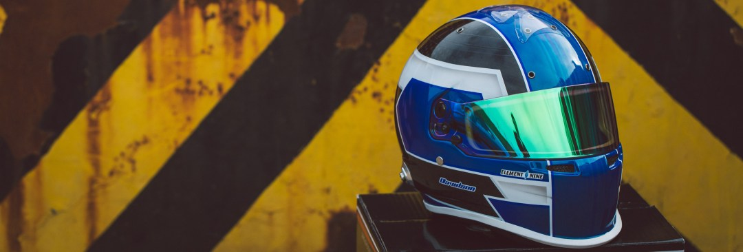 E9G Owner Craig with a custom painted helmet