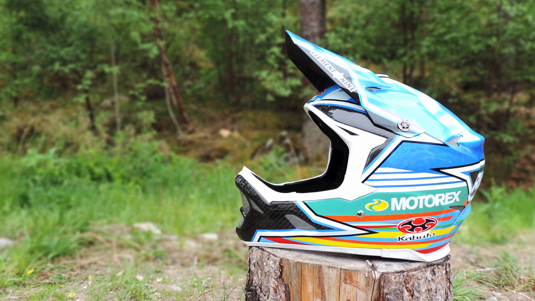 Ruaridh Cunningham Custom Kabuto Downhill Helmet Motorex