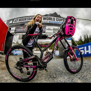 Helmet painted by Element 9 Graphics - Tahnée Seagrave at Fort William World Cup 2015